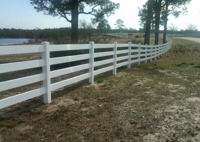4 Rail PVC Fence