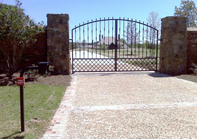 Custom Iron Gate with Max1400 Swing Gates & AAS X1 Res Cell Phone