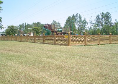 Custom Lattice Wood Fence