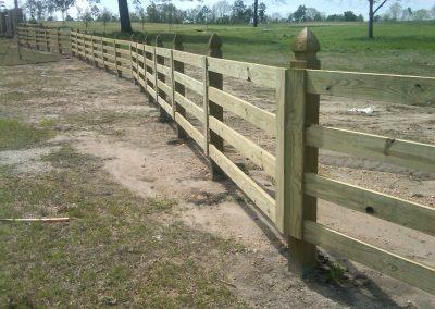 4-Rail Custom Rail Fence