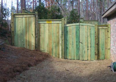 Custom Treated Pine Fence