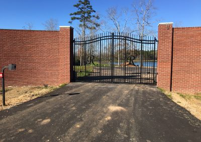 Custom Arched Iron Gate with Max1400 Swing Operators