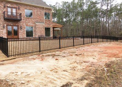 3-Rail Flat Top Iron Fence